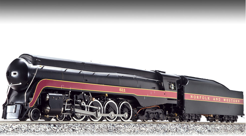 NORFOLK & WESTERN 4-8-4 J-CLASS #611, ALCOHOL FIRED, 1:32