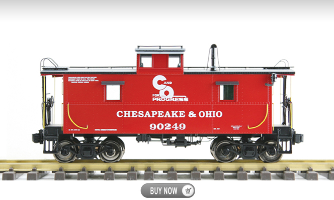 New Arrival<br>C&O Caboose<br>1:32 Scale, 45mm Gauge
