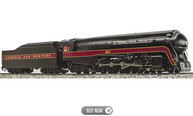 New Arrival<br>N&W J-Class #611, Alcohol Fired<br>1:32 Scale, 45mm Gauge