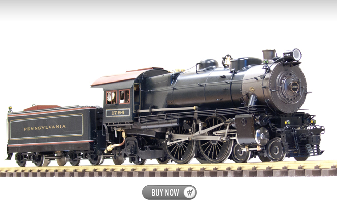 PRR 4-4-2 E-6, Live Steam<br>1:32 Scale, 45mm Gauge